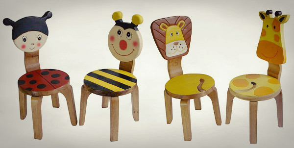 MyDeal – Ludy Bug & Bee or Lion & Giraffe Wooden Chair Set