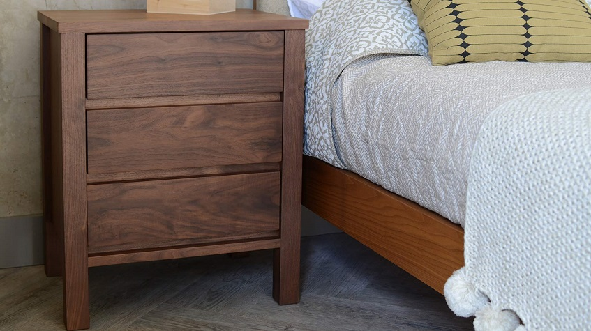 Walnut Bedside Table