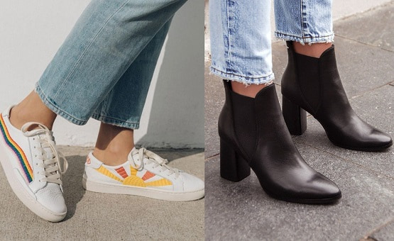 sneakers and ankle boots