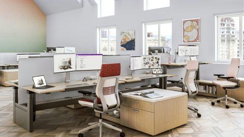 perfect work atomosphere adjustable computer desk