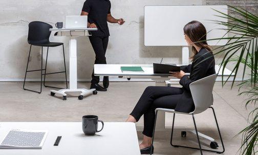talent rectangular adjustable computer desk