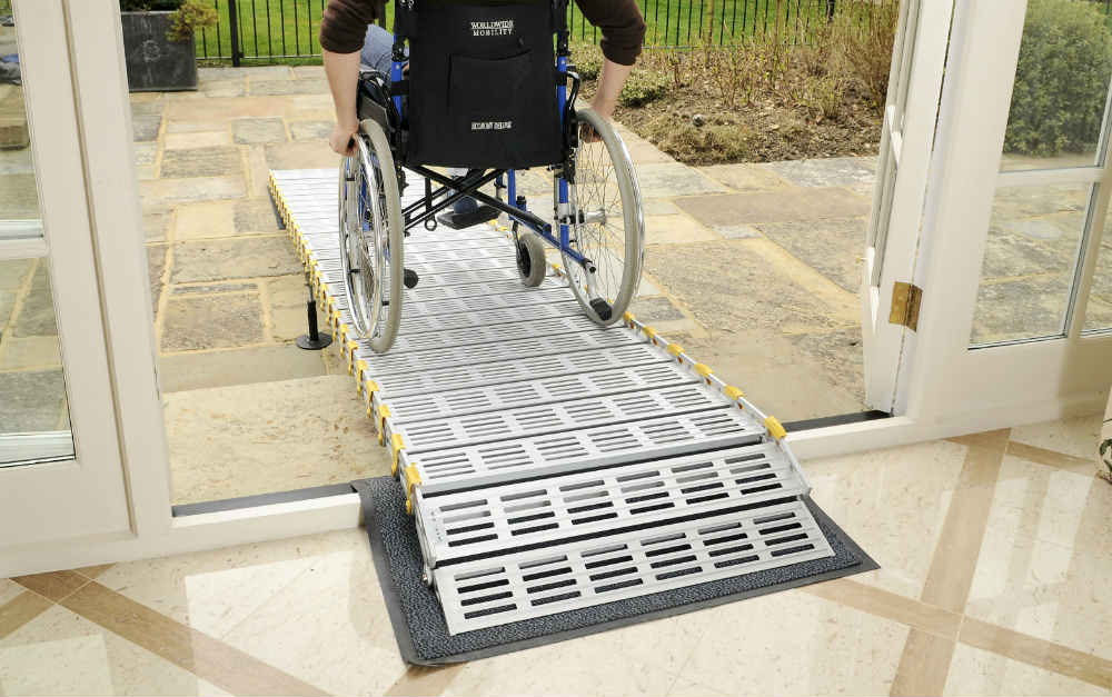 ramp for disabled person