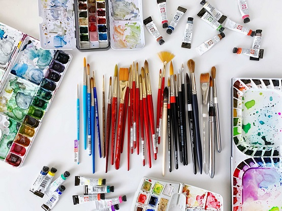 supplies for watercolor painting