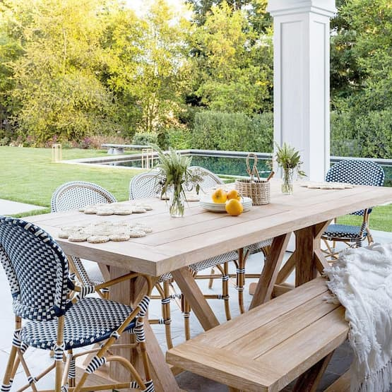 dining chairs and wooden table