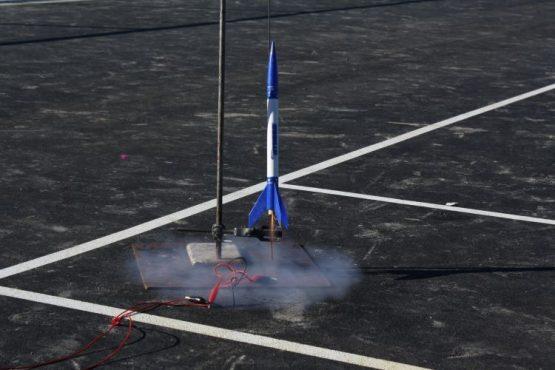 Model-rocket-launch