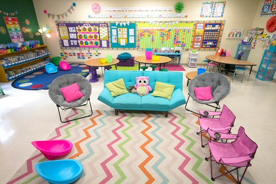 colorful seating for classroom